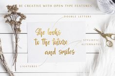 The Open Type Features in elegant modern hand draw font Senorita. This beautiful handwriting textured script would be a great fit for a variety of DIY projects, alphabet posters, handwritten inspirational quotes for motivation, typographic products or design t shirts with sayings. Also it will be perfect for calligraphy for wedding shower cursive invitations or wedding signs. Price $12 #font  #fonts #fontscript #fontstyle #handscript #quotes
