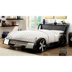 Furniture of America Born Racer Metal Full Youth Bed - Free Shipping Today - Overstock.com - 18418603 - Mobile