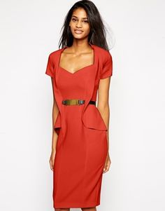 Pencil dress with peplum- stunning dress #ASOS