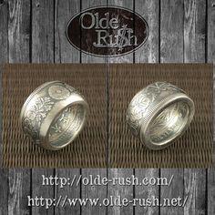 大日本 新一圓銀貨 指輪[SIZE:JP18]  新とついてますが1円銀貨の中では新しい明治21年大正3年までの間に発行されたタイプでして重厚感があります  #coinring #coinjewelry #handmade #oneyen #silvercoin #vintage #japanese #japanmade #madeinjapan #nippon #大正 #菊花紋章
