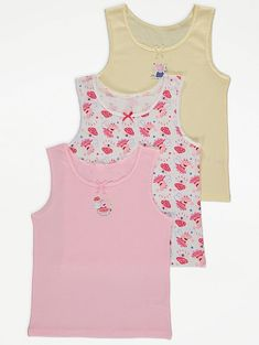 Pipsa Possu aluspaita Asda, Peppa Pig, Vest Tops, Girls, Pink, Scoop Neck, Tank Tops, Fabric, Cotton