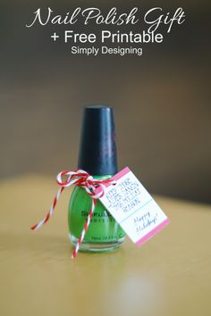 Nail Polish Holiday Gift with  printable--ladies dancing
