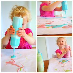 squeeze paint - art for kids - how to have fun at home with kids - Wildflower Ramblings