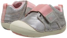 Stride Rite SM Cameron (Infant/Toddler) (Silver) Girl's Shoes Toddler Girl Shoes, Baby Girl Shoes, Girls Shoes, Girls Silver Shoes, Bunny Slippers, Girls Sneakers, Sneaker Boots, Infant Toddler, Leather