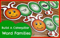 15 colorful word family caterpillars perfect for your springtime centers or for small group instruction