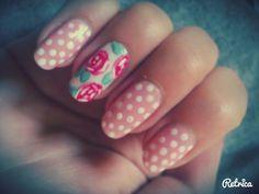 #nails #art #roses