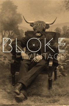 Bloke Vintage Logo Design  Graphic Design.   Poster Design.