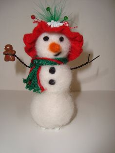 Check out this item in my Etsy shop https://www.etsy.com/listing/181511180/handmade-needle-felted-christmas