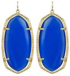 Kendra Scott Danielle Chandelier Earrings Cobalt Blue Quartz 14k GP