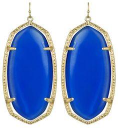 Kendra Scott Danielle Chandelier Earrings Cobalt Blue Quartz #KendraScott #KSadventure