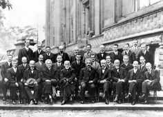 1927 Solvay Conference on Quantum Mechanics, photo by Benjamin Couprie, Institut International de Physique Solvay, Brussels, Belgium / public domain