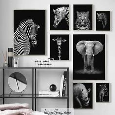 Black Elephant Giraffe Zebra Wall Art Canvas Painting Nordic Posters Pictures - Elephant Canvas - Ideas of Elephant Canvas - Black Elephant Giraffe Zebra Wall Art Canvas Painting Nordic Posters Pictures Price : Kids Room Wall Art, Wall Art Decor, Elephant Canvas, White Elephant, Giraffe, African Home Decor, Living Room Pictures, Wall Pictures, Rooms Home Decor