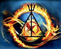 Awesome crossover of the known symbolic symbols!!! Hunger Games, Percy Jackson, and Harry Potter!!!