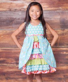 (make for Sami!) Blue Bunny Hop Hannah Dress - Infant, Toddler & Girls