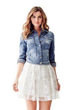 Brittney Denim Jacket   GUESS.com