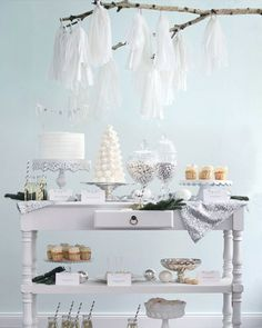 Shake My Blog | Sweet table de Noël blanche givrée