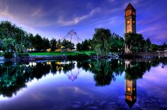 """Riverfront Reflection"" Riverfront Park, Spokane, Washington"