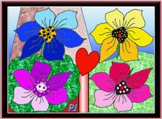 Novelty flowers dream of spring and a clear blue sky (12 pieces)