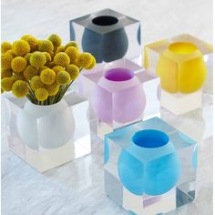 Bel Air Mini Scoop Vases by Jonathan Adler | desiary.de - identity store