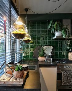 Grey Kitchen Decor A Dutch House That is Filled With Plants Art and The Colour Green - Dear Designer. Grey Kitchen Decor A Dutch House That is Filled With Plants Art and The Colour Green - Dear Designer Interior Exterior, Kitchen Interior, Kitchen Decor, Kitchen Design, Kitchen Hacks, Diy Kitchen, Interior Styling, Interior Decorating, Interior Design