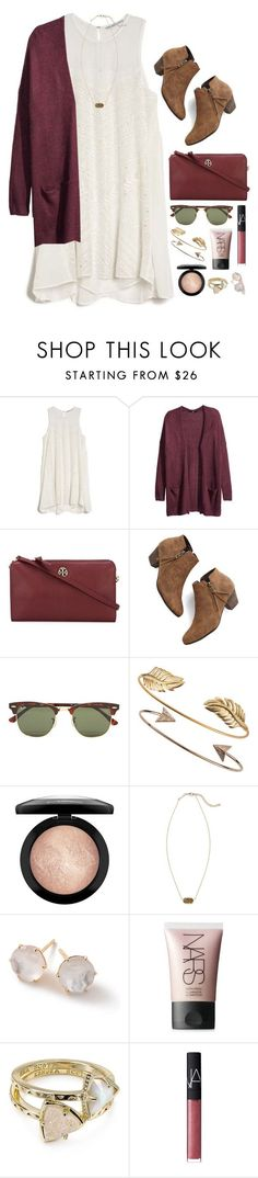 D2 by madsmason ❤ liked on Polyvore featuring Chelsea Flower, HM, Tory Burch, Chelsea Crew, Ray-Ban, Tai, MAC Cosmetics, Kendra Scott, Ippolita and NARS Cosmetics