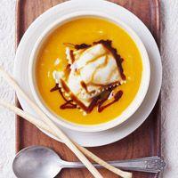 Butternut Squash Soup with Ravioli