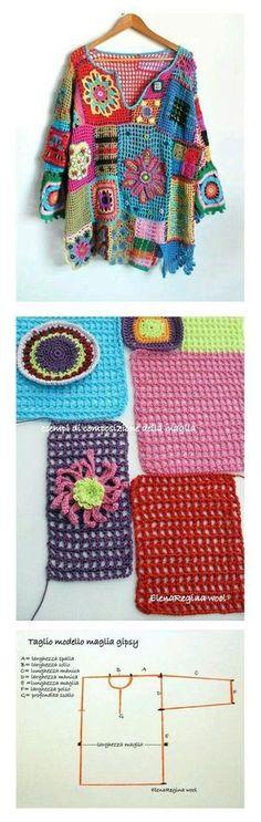 Crochet vintage sweater - simi  