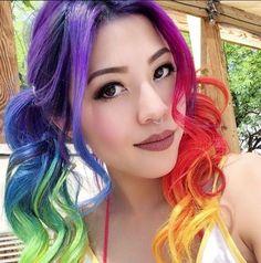 Rainbow curls <3