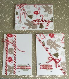 Stampin' Up! UK Demonstrator Laura Mackie: Stampin' Up! One Sheet Wonder - Candy Cane Christmas