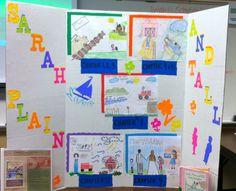 Creating a fun board for a wonderful book. Sarah Plain and Tall.
