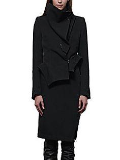 Ann Demeulemeester - Asymmetrical 2-In-1 Jacket