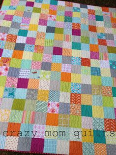 crazy mom quilts: the 'A squared' quilt