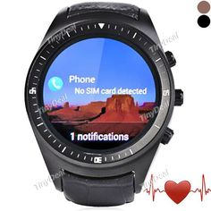K8 3G Smart Watch Phone Android 4.4 MTK6572 512MB 4GB Heart Rate Monitor FM WiFi GPS Dialer Phone Book Anti Lost