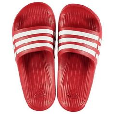 2e447f6e6976 The adidas Duramo Slide On Pool Shoes feature a classic slip on design with  a cushioned foot bed for a comfortable fit. These adidas sandals also ...