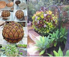 Hanging Garden Ball. SO COOL!! #Home #Garden #Trusper #Tip