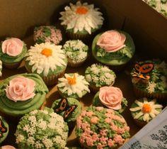 Garden fresh cupcakes