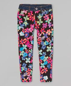 This Pink & Purple Floral Jeggings - Toddler & Girls by Lipstik Girls is perfect! #zulilyfinds