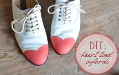 The Joyeful Journey: diy heart toed oxfords