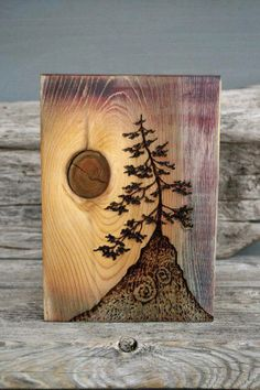 Ancient Tree – Art Block – Woodburning Done with a wood burner and a piece of wood with a beautiful knot…AWESOME! Wood Burning Crafts, Wood Burning Art, Wood Crafts, Wood Burning Projects, Woodworking For Kids, Woodworking Projects, Woodworking Skills, Woodworking Plans, Woodworking Quotes