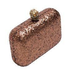Clutch Caveira Glitter » Bolsas - OQVestir
