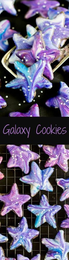 Galaxy Cookies! These are BEAUTIFUL and not very hard to make! Out of this world, even ;)