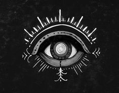 Zso aka Sara Blake (American, b. 1984, Richmond, VA, based NYC, USA) - Evil Eye (+ detail) Mixed Media