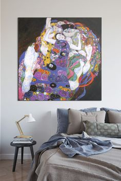 Perfect Art Print For Bedroom The Maiden Gustav Klimt - Painting Klimt, Art Pieces, Canvas Art Prints, Painting, Klimt Paintings, Art, Maiden, Canvas Art, Abstract