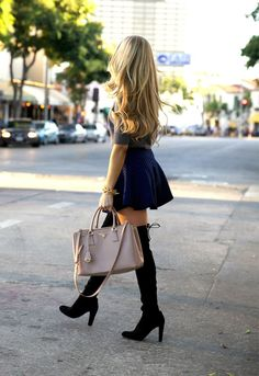 Over the Knee Boots - AngelFoodStyleAngelFoodStyle