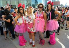 Hug Life: Four Days in a Hello Kitty Convention Tattoo Parlor | Vanity Fair - Oh look Rave Fluffies and tutus