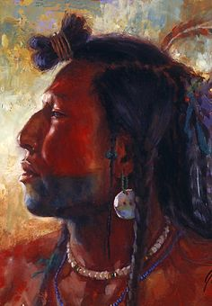 native american art by james ayers | ... People, Mandan, Native American Art, James Ayers Studios by JamesAyers