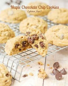 Gluten Free Maple Chocolate Chip Cookies by The Sweet Chick