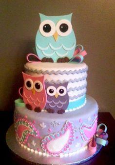 1st Owl Cake