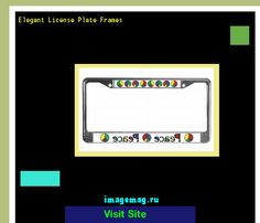 Elegant license plate frames 184337 - The Best Image Search