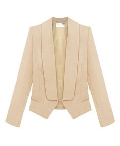 OL Style Pure Color Slim Fit Blazer
